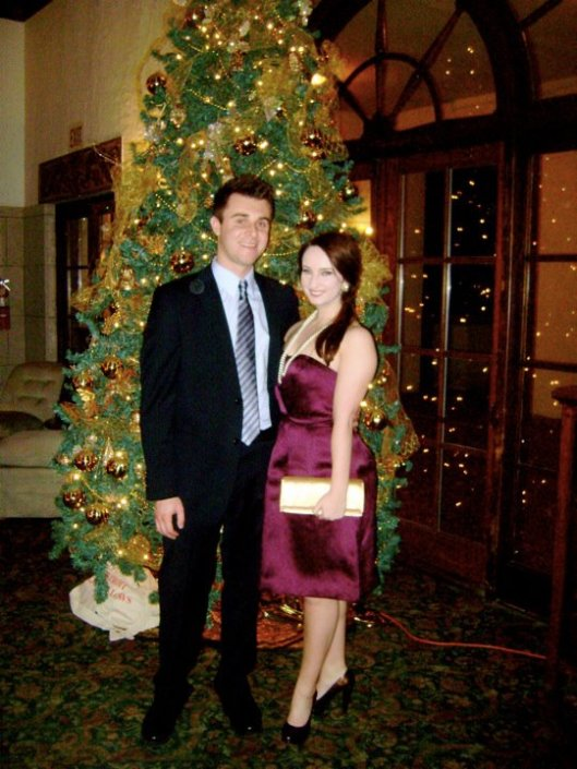 December 2011 -- newly facebook official and at my corporate holiday party at the Detroit Yacht Club.